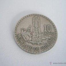 Monedas antiguas de América: MONEDA-GUATEMALA-1974-10 CENTAVOS-MONOLITO DE QUIRIGUA-.. Lote 42576403