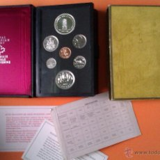 Monedas antiguas de América: LUJOSO ESTUCHE DE MONEDAS CANADA SERIE PRESTICH 1977 TRONO JUBILEO 7 VALORES. Lote 42671765