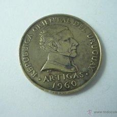 Monedas antiguas de América: MONEDA-URUGUAY-10 CENTESIMOS-ARTIGAS-1960-BRONCE-BUEN ESTADO-.. Lote 42704826