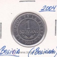 Monedas antiguas de América: BOLIVIA 1 BOLIVIANO 2004. Lote 42848887