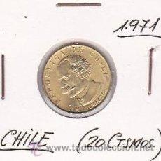 Monedas antiguas de América: CHILE 20 CENTESIMOS 1971. Lote 42849619