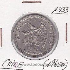 Monedas antiguas de América: CHILE 1 PESO 1933. Lote 42849699