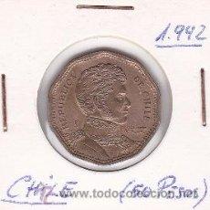 Monedas antiguas de América: CHILE 50 PESOS 1992. Lote 42850452