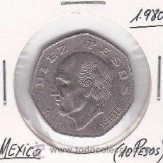 Monedas antiguas de América: MEXICO 10 PESOS 1980. Lote 42882284