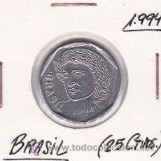 Monedas antiguas de América: BRASIL 25 CENTAVOS 1994. Lote 42891959