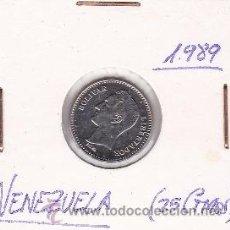 Monedas antiguas de América: VENEZUELA 25 CENTIMOS 1989. Lote 42896072