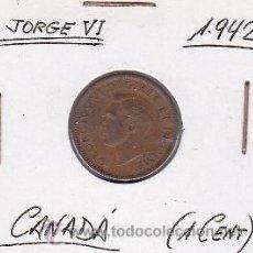 Monedas antiguas de América: CANADA 1 CENT 1942. Lote 42896288