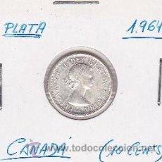 Monedas antiguas de América: CANADA 10 CENTS 1964 (PLATA). Lote 42896417