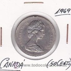 Monedas antiguas de América: CANADA 50 CENTS 1969. Lote 42896638