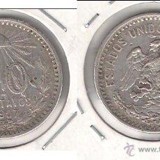 Monedas antiguas de América: MONEDA DE 20 CENTAVOS DE LOS ESTADOS UNIDOS DE MÉJICO DE 1907. PLATA. MBC+ (ME973).. Lote 43136299