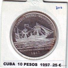 Monedas antiguas de América: CUBA 10 PESOS 1997 PLATA. Lote 43349526