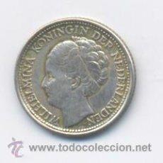 Monedas antiguas de América: CURACAO- ANTILLAS HOLANDESAS- 1/10 GULDEN- 1944- PLATA. Lote 43362702