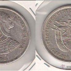 Monedas antiguas de América: MONEDA DE 25 CENTÉSIMOS DE PANAMÁ DE 1904. BUSTO DE BALBOA. PLATA. MBC. (ME1088).. Lote 43468954