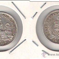 Monedas antiguas de América: MONEDA DE MEDIO (1/2) DINERO DE PERÚ DE 1916. PLATA. EBC+ (ME1099).. Lote 43475229