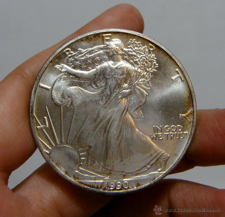 1 DOLAR. U. S. A - 1990. LIBERTY. PLATA (Numismática - Extranjeras - América)