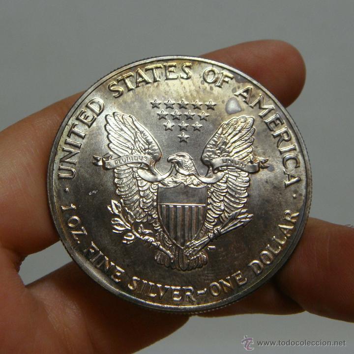 Monedas antiguas de América: 1 Dolar. U. S. A - 1990. Liberty. Plata - Foto 2 - 43571448