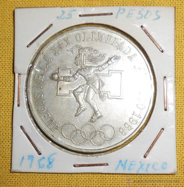 Moneda Mejico Mexico 25 Pesos Ano 1968 Xix J Comprar Monedas