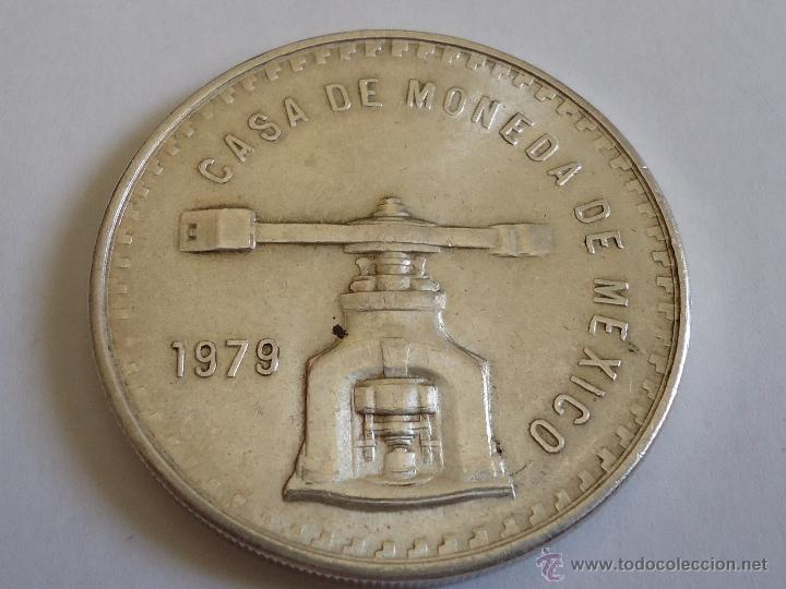 ONZA DE PLATA TROY DE MEXICO DEL AÑO 1.979. SON 33,625 GRAMOS (Numismática - Extranjeras - América)