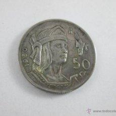 Monedas antiguas de América: Aª MONEDA-MÉXICO-50 CENTAVOS-PLATA-1950-CUAUHTEMOC-BUEN ESTADO-.. Lote 44889024