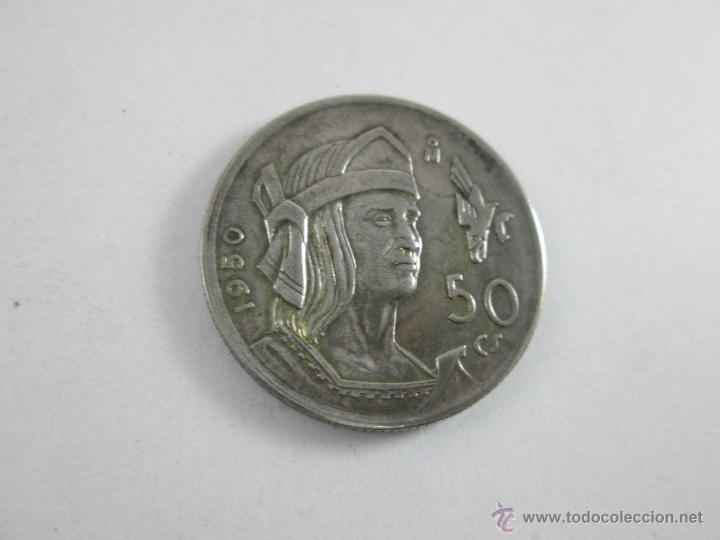Monedas antiguas de América: Aª MONEDA-MÉXICO-50 CENTAVOS-PLATA-1950-CUAUHTEMOC-BUEN ESTADO-. - Foto 2 - 44889024
