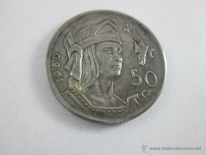 Monedas antiguas de América: Aª MONEDA-MÉXICO-50 CENTAVOS-PLATA-1950-CUAUHTEMOC-BUEN ESTADO-. - Foto 4 - 44889024