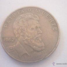 Monedas antiguas de América: 40 CENTAVOS REPUBLICA DE CUBA 1962 CAMILO CIENFUEGOS GORNARAN. Lote 44901654