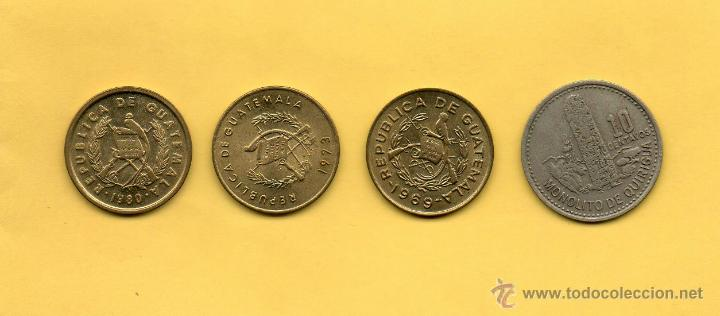 Monedas antiguas de América: MM. LOTE 4 PIEZAS REPUBLICA GUATEMALA. 1 CENTAVO (3) Y 10 CENTAVOS. QUIRIGUA. FRAY BARTOLOME CASAS - Foto 2 - 45353158