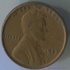 Monedas antiguas de América: USA. ONE CENT 1927. Lote 143128817