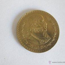 Monedas antiguas de América: Aº MONEDA-PESO MEXICANO-1966-35 MM.D-COMO ORO-16,O GRMS-VER FOTOS.. Lote 45472857