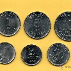 Monedas antiguas de América: MM. LOTE 6 MONEDAS BRASIL. CENTAVOS. CRUZADOS. CRUZEIRO. VARIOS AÑOS. VER FOTOS.. Lote 45496290