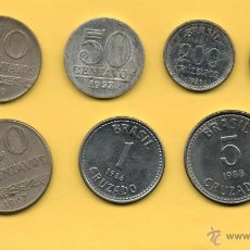 Monedas antiguas de América: MM. LOTE 7 MONEDAS BRASIL. DIVERSAS FECHAS Y VALORES. CENTAVOS. CRUZADOS. CRUZEIROS. VER FOTOS.. Lote 45496361