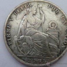 Monedas antiguas de América: MONEDA DE PLATA DE MEDIO SOL DE PERU DE 1929, PESA 12,4 GRAMOS. Lote 45527219