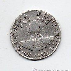 Monedas antiguas de América: BOLIVIA 4 SOLES. AÑO 1830 POTOSÍ JL. PLATA.. Lote 45639623