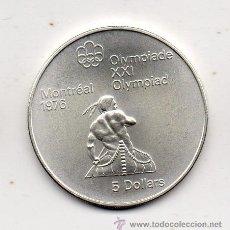 Monedas antiguas de América: CANADÁ. 5 DÓLARES. AÑO 1974. PLATA. SIN CIRCULAR. OLIMPIADA DE MONTREAL 1976.. Lote 46087402