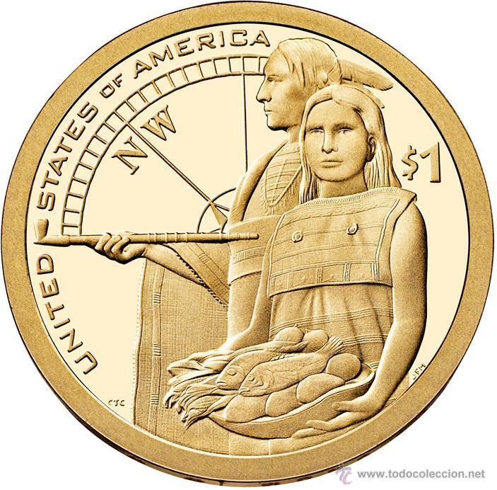 ESTADOS UNIDOS / USA 1 DOLAR 2014 AMERICAN NATIVE (SACAGAWEA) P (Numismática - Extranjeras - América)
