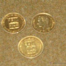 Moedas antigas da América: VENEZUELA 3 MONEDAS DE PLATA DORADA DE 25 CENTIMOS - 2 1960 Y 1 DE 1954. Lote 46798499
