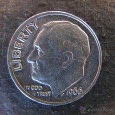 Monedas antiguas de América: MONEDA ESTADOS UNIDOS 10 CENTAVOS DIME 1966. Lote 47246672