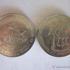 Monedas antiguas de América: 2 MONEDAS DE UN PESO. REP. DOMINICANA. 1988 Y 1990.. Lote 47432908