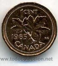 CANADA 1 CENTIMO DE 1985 ( HOJAS DE ARCE ) Nº1 (Numismática - Extranjeras - América)