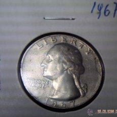 Monedas antiguas de América: MONEDA USA DE UN CUARTO 1967. EXCELENTE.. Lote 47604876