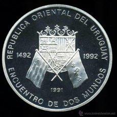 Monedas antiguas de América: URUGUAY : 50.000 NUEVOS PESOS PLATA 1991 (PROOF) - I SERIE IBEROAMERICANA. TIRADA MINIMA. Lote 47861068