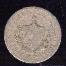 Monedas antiguas de América: CUBA. 5 CENTAVOS. AÑO 1920. PLATA. Lote 48078900