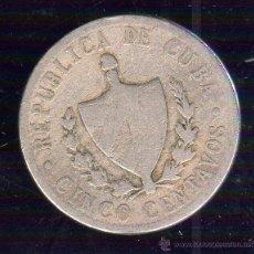 Monedas antiguas de América: CUBA. 5 CENTAVOS. AÑO 1920. PLATA. Lote 48081035