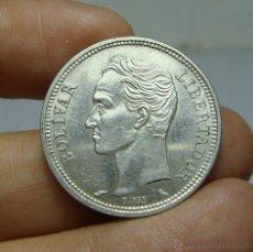 Monedas antiguas de América: 1 BOLIVAR. PLATA. VENEZUELA - 1960. Lote 48432472