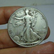 Monedas antiguas de América: 1/2 DOLAR. PLATA. U.S.A - 1945 (LIBERTY). Lote 48456479