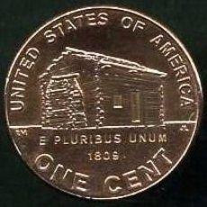 Monedas antiguas de América: ESTADOS UNIDOS 1 CENT DEL 2009 D (CENTERARIO LINCOLN Y LUGAR DE NACIMIENTO DE ABRAHAN LINCOLN ) Nº2. Lote 147382496