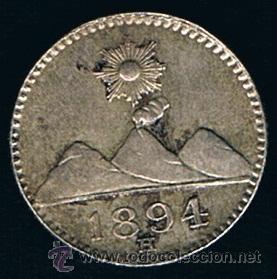 GUATEMALA. 1/4 REAL 1.894 (Numismática - Extranjeras - América)