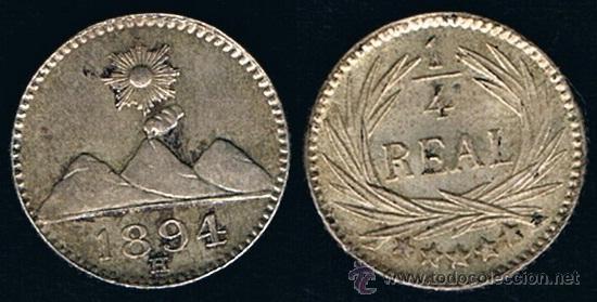 Monedas antiguas de América: GUATEMALA. 1/4 REAL 1.894 - Foto 3 - 48615719