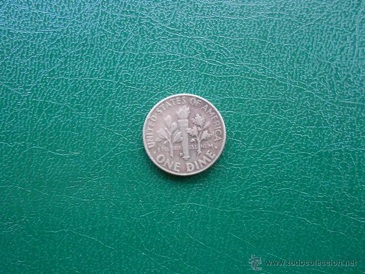 Monedas antiguas de América: 1 dime Roosevelt 1964 D - Foto 2 - 48989096