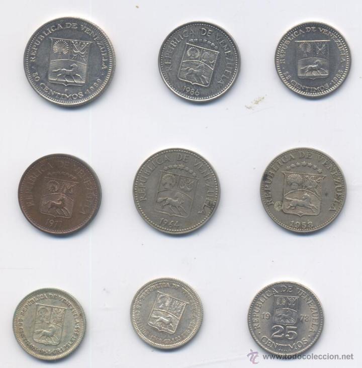 LOTE DE VENEZUELA- 5 CENTIMOS-25 CENTIMOS-50 CENTIMOS-PLATA (Numismática - Extranjeras - América)